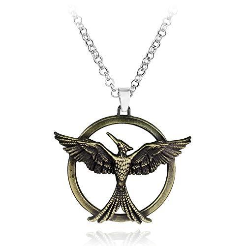 WYFLL Collar con colgante de aleación de The Hunger Games en torno a películas europeas y americanas