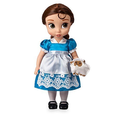 Disney Store: muñeca niña Coleccionable de la Princesa Bella (colección Animators), La Bella y la Bestia, 39cm, Pelo enraizado, Traje y Zapatos realistas, Oveja en Raso Acolchado, Mayores de 3años