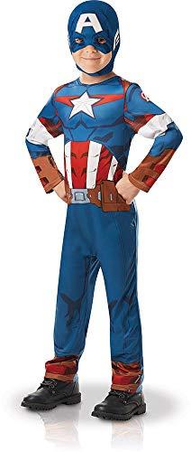 Rubie's 640832S - Disfraz infantil oficial de Marvel Avengers Capitán América, talla única , color/modelo surtido