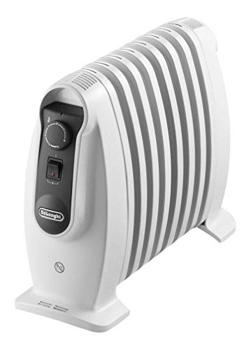 De'Longhi TRNS 0808M - Radiador de aceite, 800 w, termostato de seguridad, función Eco, controles digitales, blanco