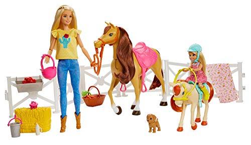 Barbie - Muñecas Barbie y Chelsea con caballos y accesorios, regalo para niñas y niños 3-9 años (Mattel GLL70), Embalaje sostenible
