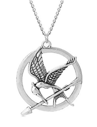 The Hunger Games - Collar con colgante de pájaro con diseño de flecha Katniss inspirado en la película, para mujeres, hombres, mujeres y niñas