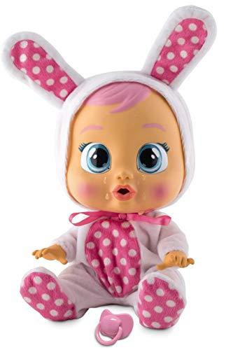 Bebés Llorones Coney - Muñeca interactiva que llora de verdad con chupete y pijama de Conejito