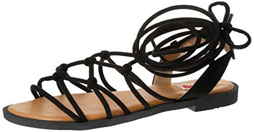 Sandalias Mujer MTNG | Sandalias Palmira 58351 | MTNG Mujer | Sandalias Romana | Cierre con Cordones | 45088 | Negro | 39