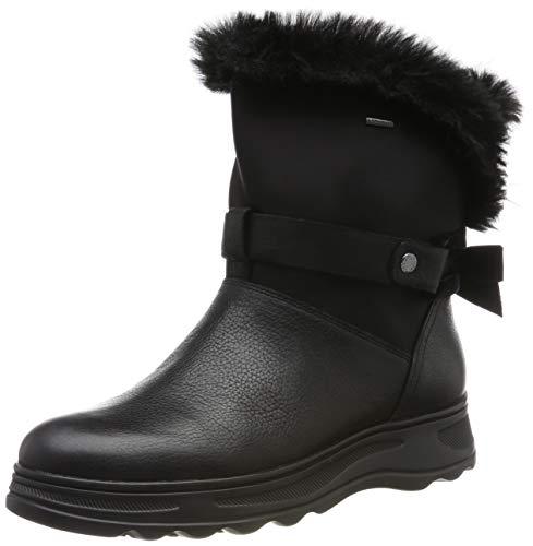 Geox D HOSMOS B ABX C, Botas de Nieve Mujer, Negro (Black C9999), 37 EU