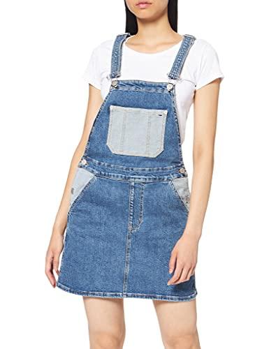 Tommy Hilfiger Tjw Dungaree Dress vestido, Azul (TJ Denim Colorblock 1A4), Small para Mujer