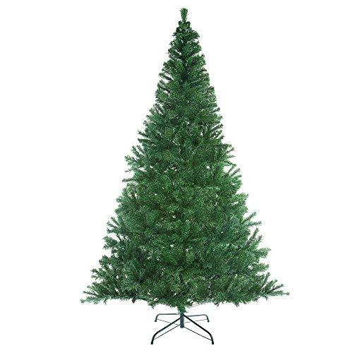CASARIA Árbol de Navidad Artificial Verde PVC de 533 Puntas 180cm Soporte y Sistema de Montaje Plug-in