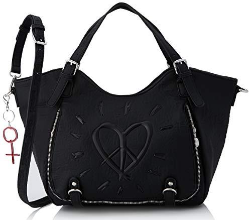 Desigual Bag Legend Rotterdam, Bolsa de capazo para Mujer, Negro (Negro), 30x15x31 Centimeters (B x H x T)