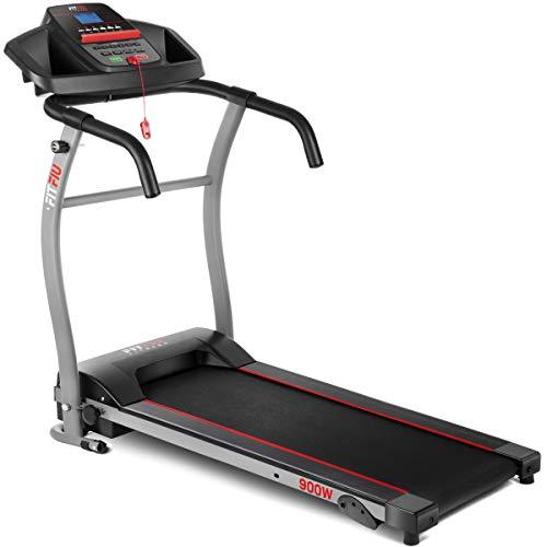 FITFIU Fitness MC-100 - Cinta de correr y andar Plegable, velocidad hasta 10km/h, inclinación manual, superficie carrera 31x102cm, potencia 900w, pantalla LED, ideal para andar, peso máx. 120kg