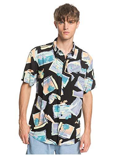 Quiksilver - Camisa de Manga Corta - Hombre - L - Negro