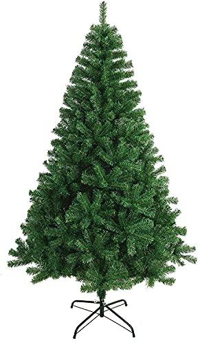 Bravo Home - Árbol de Navidad Artificial 180 cm, Color Verde Natural, Soporte metálico, Material PVC, fácil de Montar