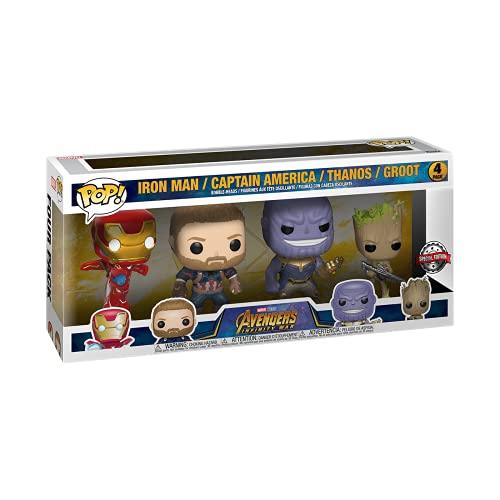 Funko 58563 POP Marvel: Marvel Classic- 4PK - (Amazon Exclusive)