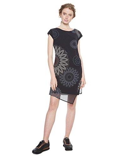 Desigual Vest_sandrini Vestido, (Negro 2000), 42 (Talla del Fabricante: 40) para Mujer