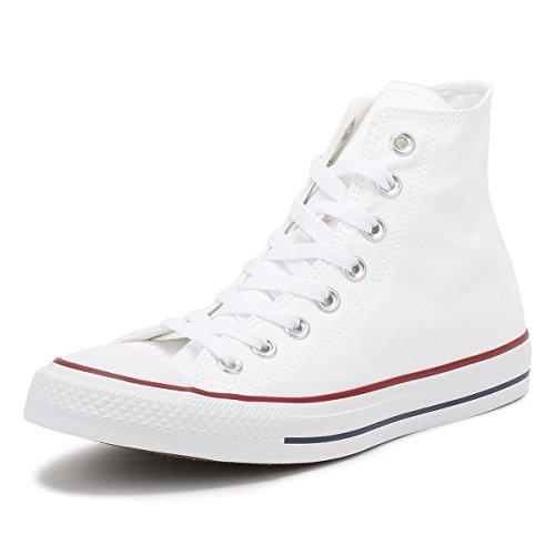 Converse All Star Hi Canvas Zapatillas Blancas Ópticas -UK 7
