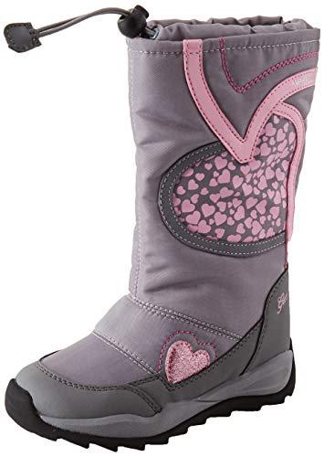 Geox J Orizont B Girl ABX, Botas de Nieve Niñas, (Grey/Pink C0502), 36 EU