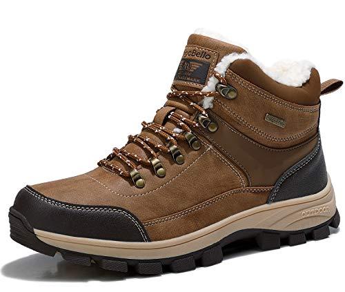 ARRIGO BELLO Hombre Botas Botines Zapatos Invierno Botas de Nieve Cálido Fur Forro Aire Libre Boots Urbano Senderismo Esquiar Caminando 41-46(Caqui,Numeric_44)