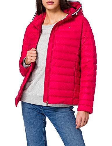 Tommy Hilfiger TH ESS LW Down Jacket Chamarra de Plumas, Rojo primario, S para Mujer