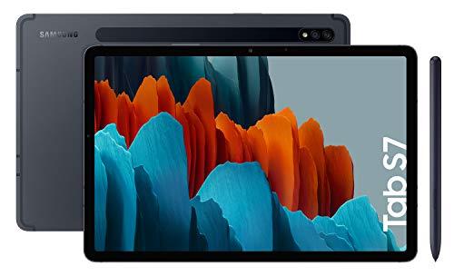 Samsung Galaxy Tab S7 - Tablet de 11' con pantalla QHD (Wi-Fi, Procesador Qualcomm Snapdragon 865+, RAM de 6GB, ROM de 128GB, Android 10 actualizable) - Color Negro [Versión española]