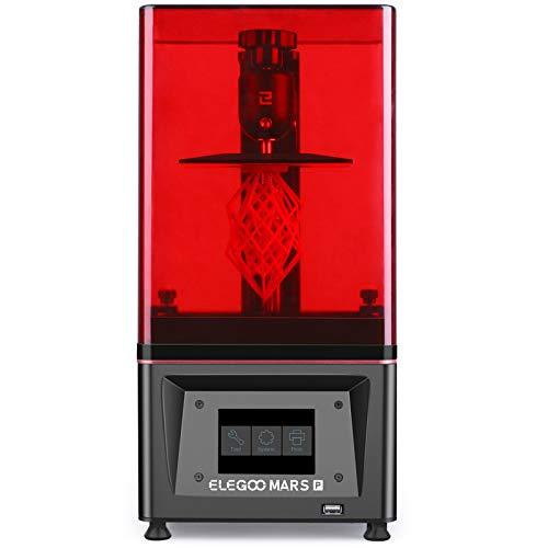 ELEGOO Mars Pro MSLA Impresora 3D de Fotocurado LCD UV con Fuente de luz LED de Matriz UV, Carbón Activado Incorporado, Tamaño de Impresión 11.5cm (L) x 6.5cm (W) x 15cm (H)