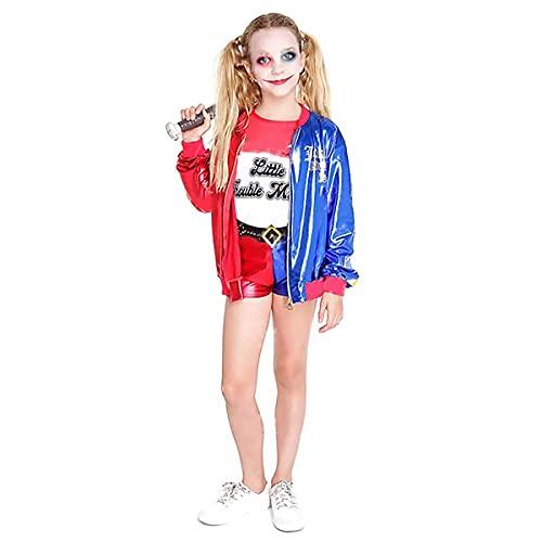 Hipex Collection Disfraz de Joker's Baby Cosplay para niña, Halloween, Carnaval, Fiestas, Disfraces infantil niñas (10-12 años)