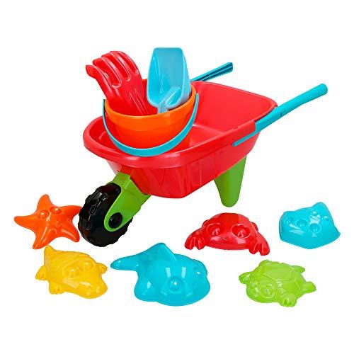 ColorBaby - Set de playa con carretilla de juguete Color Beach (43507)