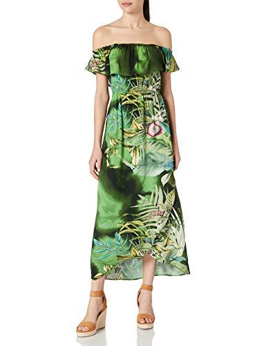 Desigual Vest_Tucson Vestido Casual, Verde, M para Mujer