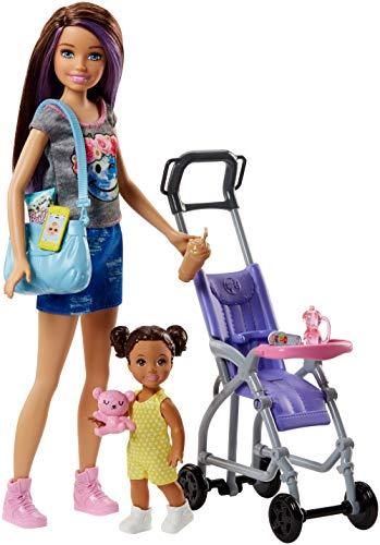 Barbie - Muñeca Skipper hermana de Barbie, niñera de paseo - (Mattel FJB00)