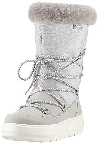 Geox D Kaula B ABX C, Botas de Nieve Mujer, Gris (Lt Grey/Dk Grey C1037), 37 EU