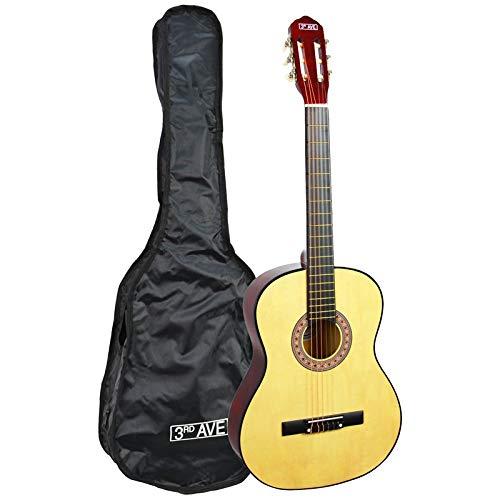 3rd Avenue STX20CN - Guitarra clásica de tamaño 3/4, Natural, Estándar