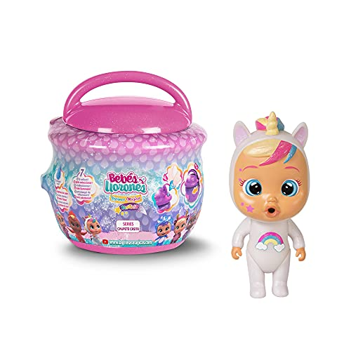 Bebés Llorones Lágrimas Mágicas Fantasy Casita Chupete - Mini muñecas coleccionables con purpurina - Surtido