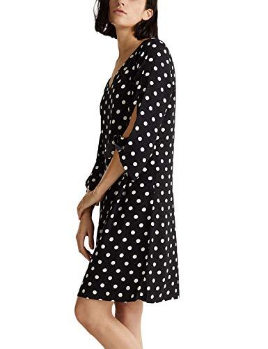 Esprit 999eo1e806 Vestido, Negro (Black 3 003), 38 (Talla del Fabricante: 36) para Mujer