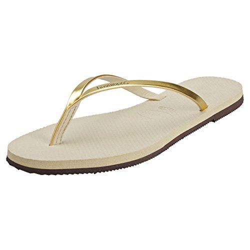 Havaianas You Metallic, Sandalias para Mujer, Dorado (Sand Grey/Light Golden), 37/38 EU