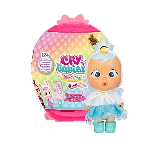 Bebés Llorones Lágrimas Mágicas Dress Me Up Muñeca sorpresa coleccionable que llora y con ropa a vestir, juguete para niñas y niños 3-9 años