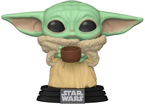 Funko- Pop Star Wars: Mandalorian-The Child w/Cup Figura Coleccionable, Multicolor (49933)