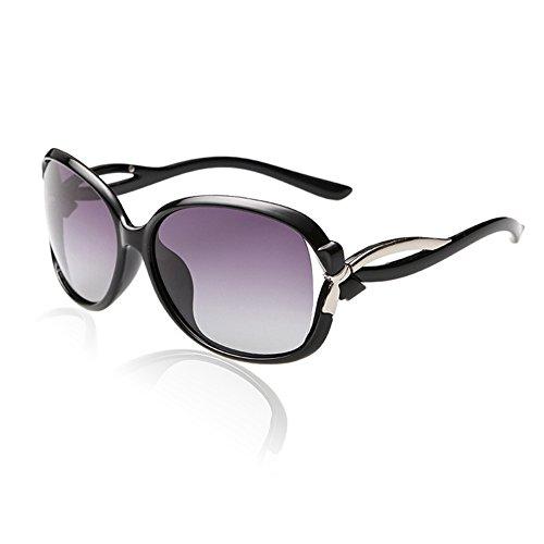 Duco gafas de sol con estilo de las gafas de sol polarizadas 100% protección UV 2229 (Marco negro)