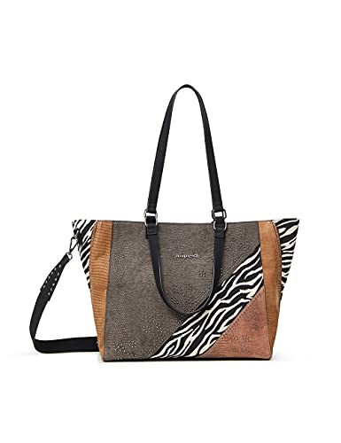 Desigual Mona Marsella, Bolsa de la Compra para Mujer, marrón, Einheitsgröße