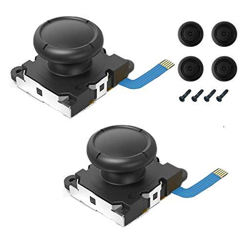 Maiweitong 2-Pack Joystick de repuesto para el pulgar analógico para Nintendo Switch / Switch Lite Joy-Con Controller