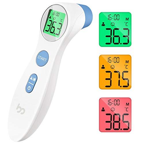 Termómetro de Frente, Femometer Médico Termómetros, Medir de Forma Instantánea y Precisa la con Pantalla Digital para Bebés, Niños, Adultos