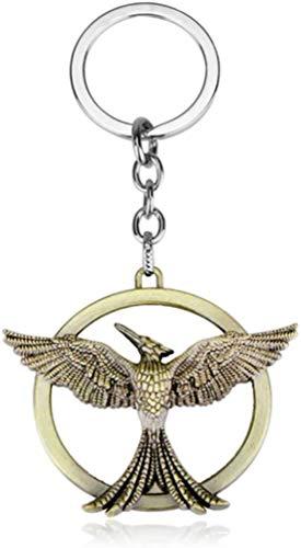 Llavero de latón con colgante de The Hunger Games Sinsajo, ideal como regalo para hombres y mujeres