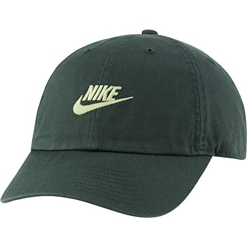 NIKE - U NSW H86 Futura Wash Cap, Gorra de béisbol Unisex – Adulto, Unisex Adulto, 913011-337, Galactic Jade/(lt Liquid Lime), MISC