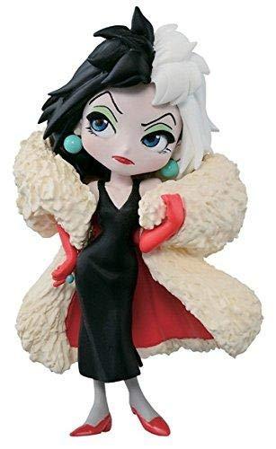 Figura de Colección Cruella DE VIL de 101 Dalmatas 7cm Serie QPOSKET Petit Villains Banpresto Disney Characters Dalmatians