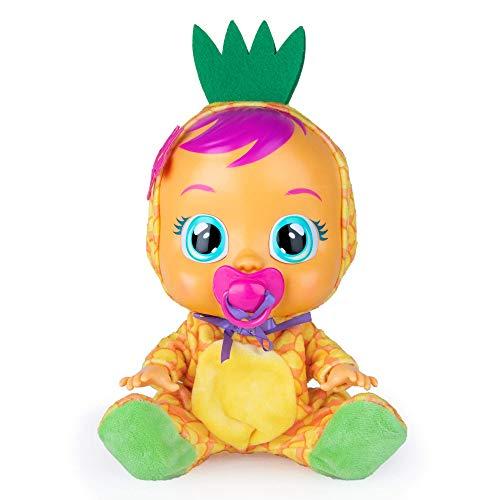 BEBÉS LLORONES Tutti Frutti Pia, la piña Muñeca interactiva que llora de verdad con chupete y pijama de Piña con olor a fruta muñeco para niñas y niños a partir de 18 meses