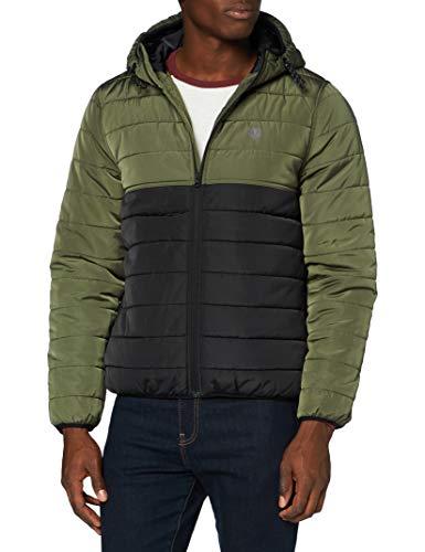 Element Alder Puff Fundament - Jacket para Hombre Chaqueta Parka, Hombre, Flint Black, L
