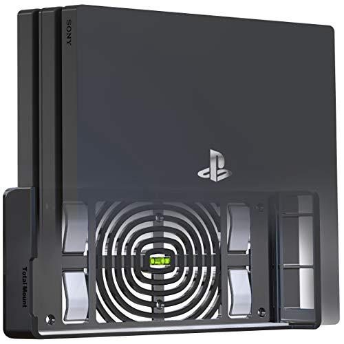 TotalMount Soporte de Pared para la Consola Sony Playstation 4 Pro con gestión del Calor y Clip de Seguridad Negro