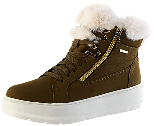 GEOX D KAULA B ABX D OLIVE/OFF WHITE Women's Boots Snow size 35(EU)