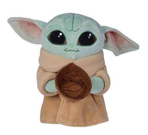 Simba- Peluche The Child Baby Yoda 17 cm con Accesorio, 3 Modelos Disponibles: con Rana, Bol o con Pelota, Licencia Oficial Disney, para Todas Las Edades, Multicolor (6315875789)