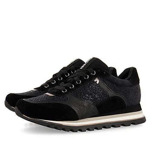 Sneakers Negros con cuña para Mujer DARUVAR
