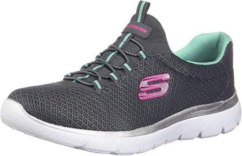 Skechers - Zapatillas deportivas Summits para mujer, color Gris, talla 36.5 EU