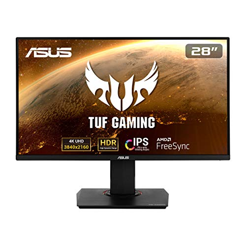 Asus TUF Gaming VG289Q - Monitor Gaming de 28' 4K (3840x2160, IPS, DCI-P3 , 60 Hz, 5 ms, LED, Adaptive-Sync, FreeSync, HDR 10, DisplayPort, HDMI) Negro