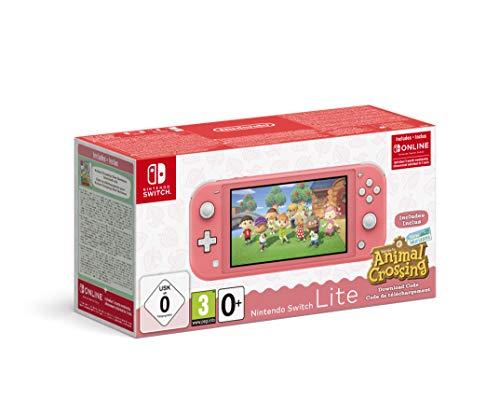 Nintendo Switch Lite Coral + Animal Crossing New Horizons + 3 meses Nintendo Shop Online